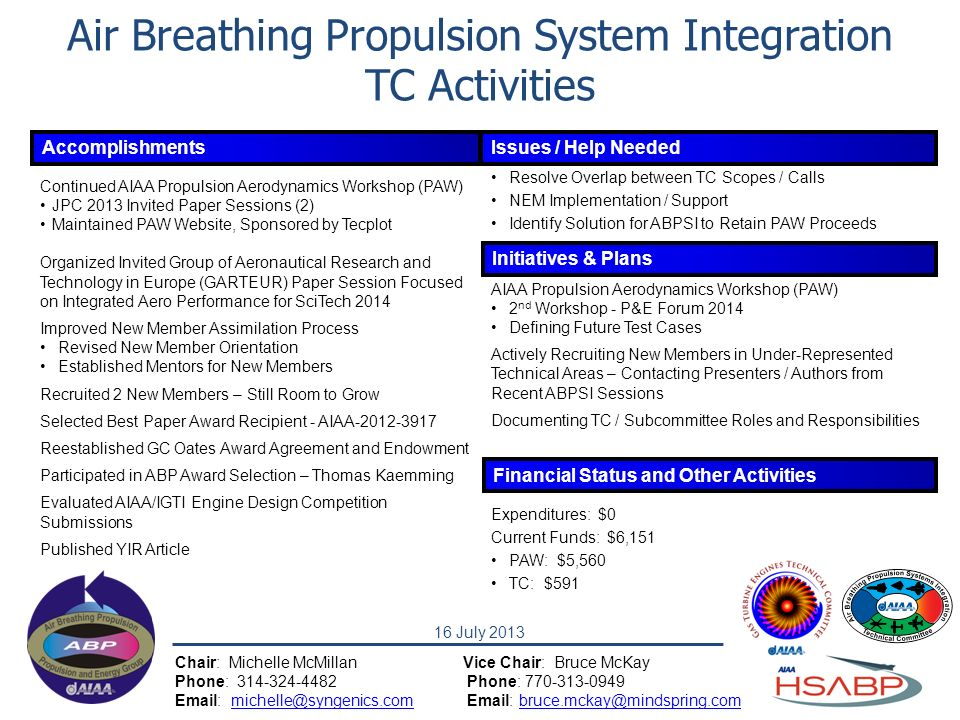 Air Breathing Propulsion System Integration TC Activities