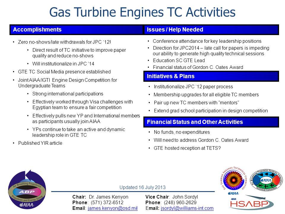 Gas Turbine Engines TC Activities