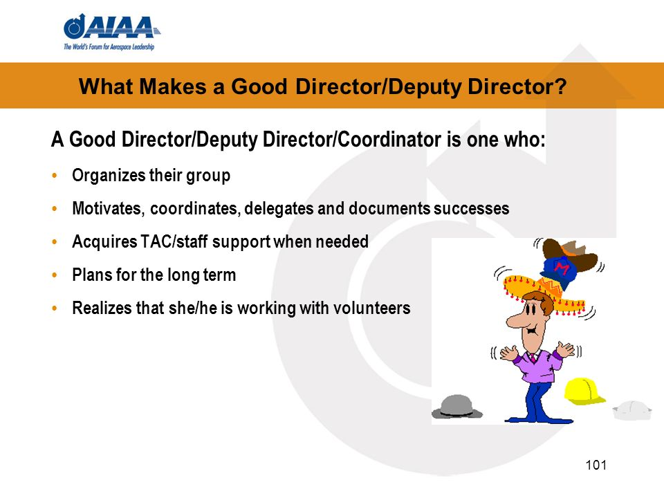What Makes a Good Director/Deputy Director