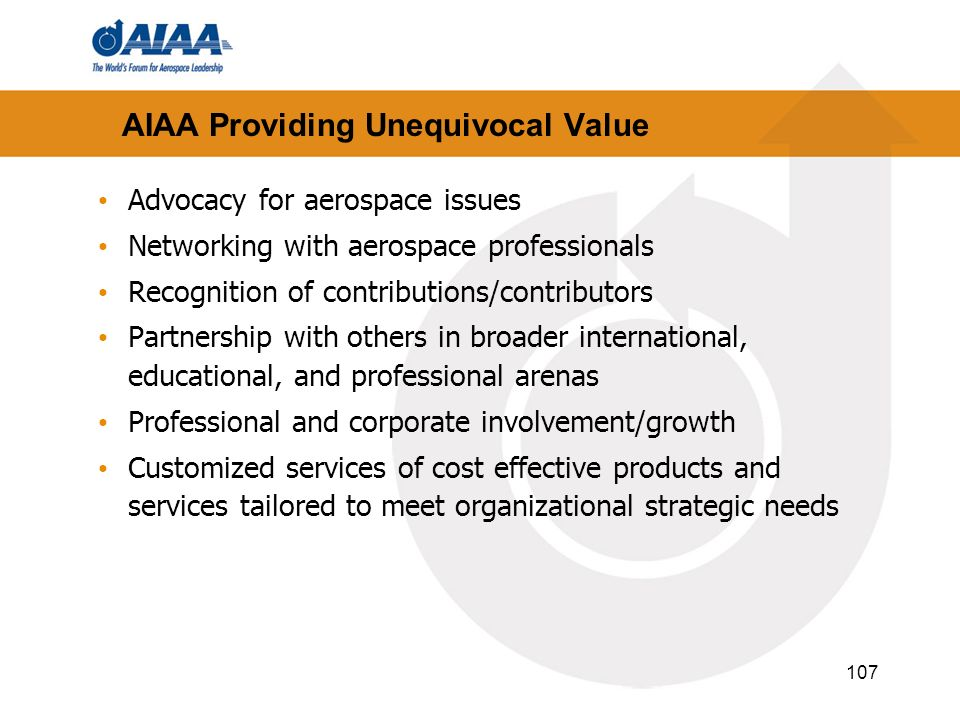 AIAA Providing Unequivocal Value