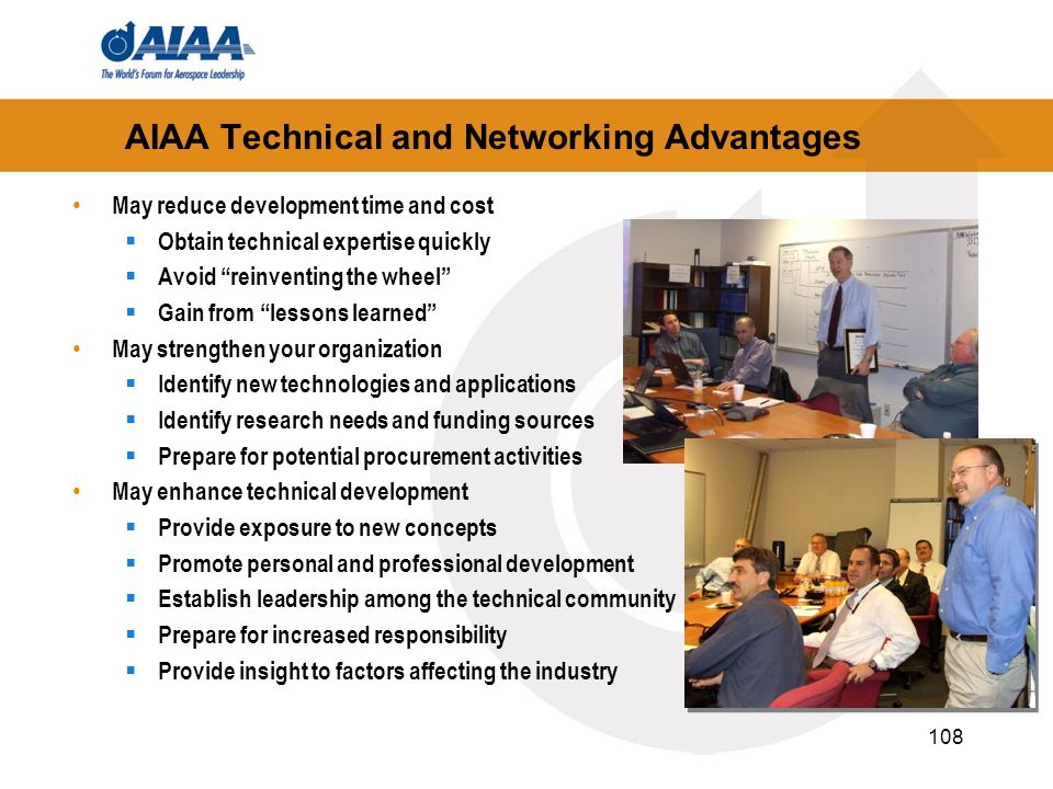 AIAA Technical and Networking Advantages