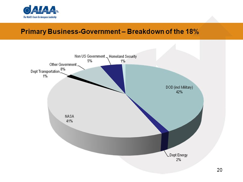 Primary Business-Government – Breakdown of the 18%