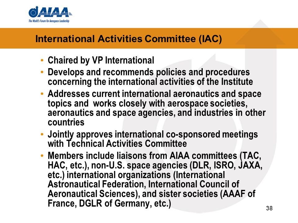 International Activities Committee (IAC)