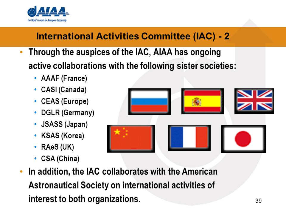 International Activities Committee (IAC) - 2