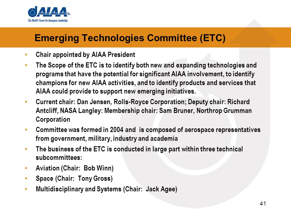 Emerging Technologies Committee (ETC)