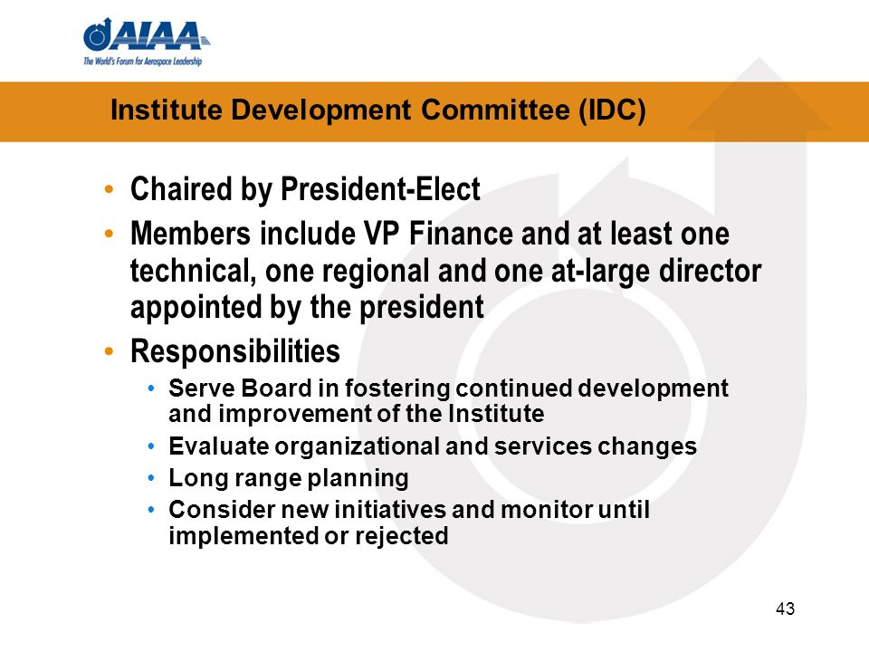 Institute Development Committee (IDC)