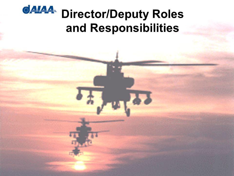 Director/Deputy Roles