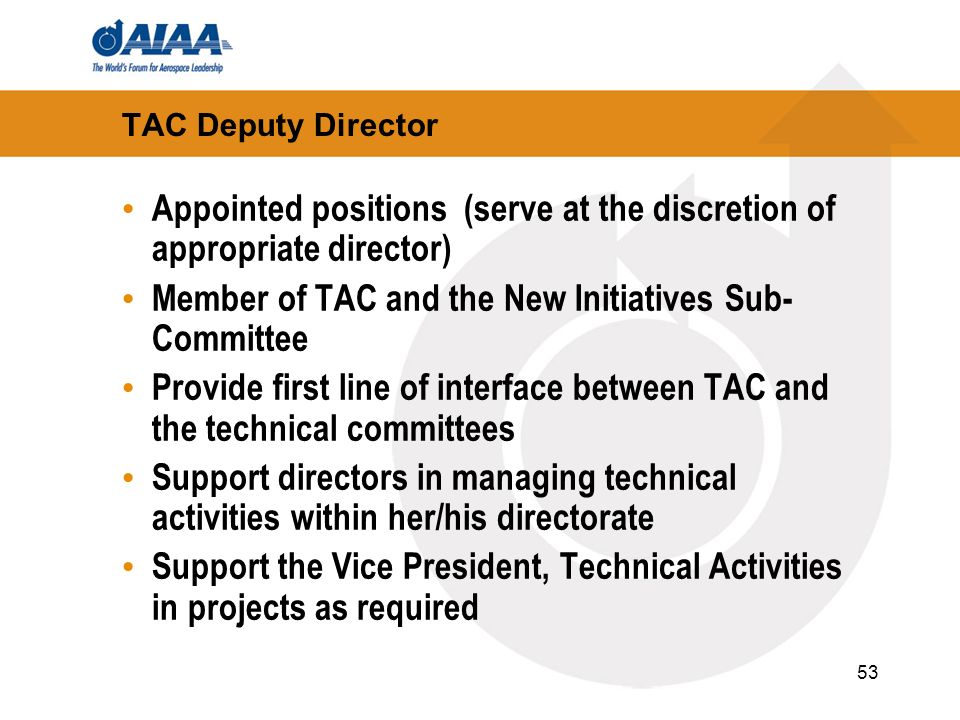 Appointed positions (serve at the discretion of appropriate director)