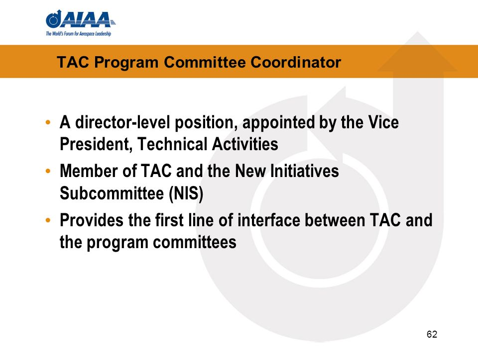 TAC Program Committee Coordinator