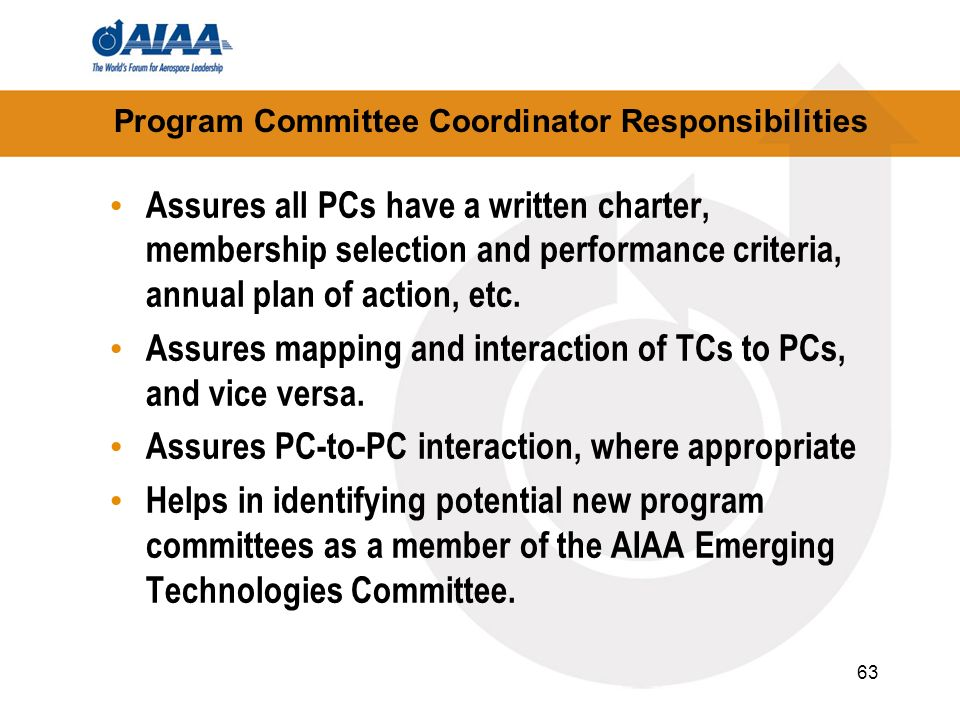 Program Committee Coordinator Responsibilities