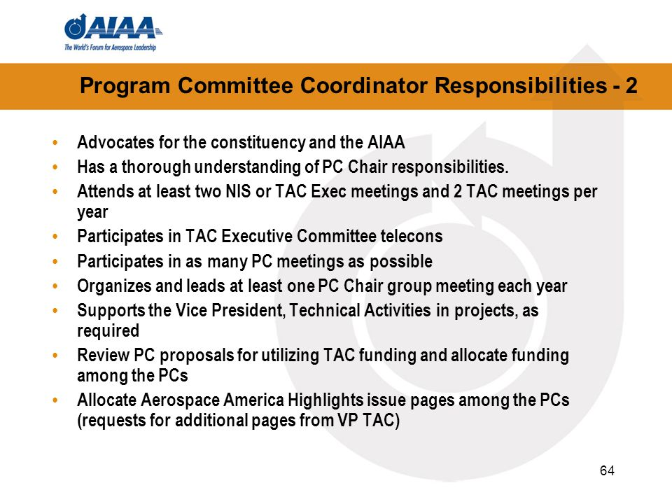 Program Committee Coordinator Responsibilities - 2