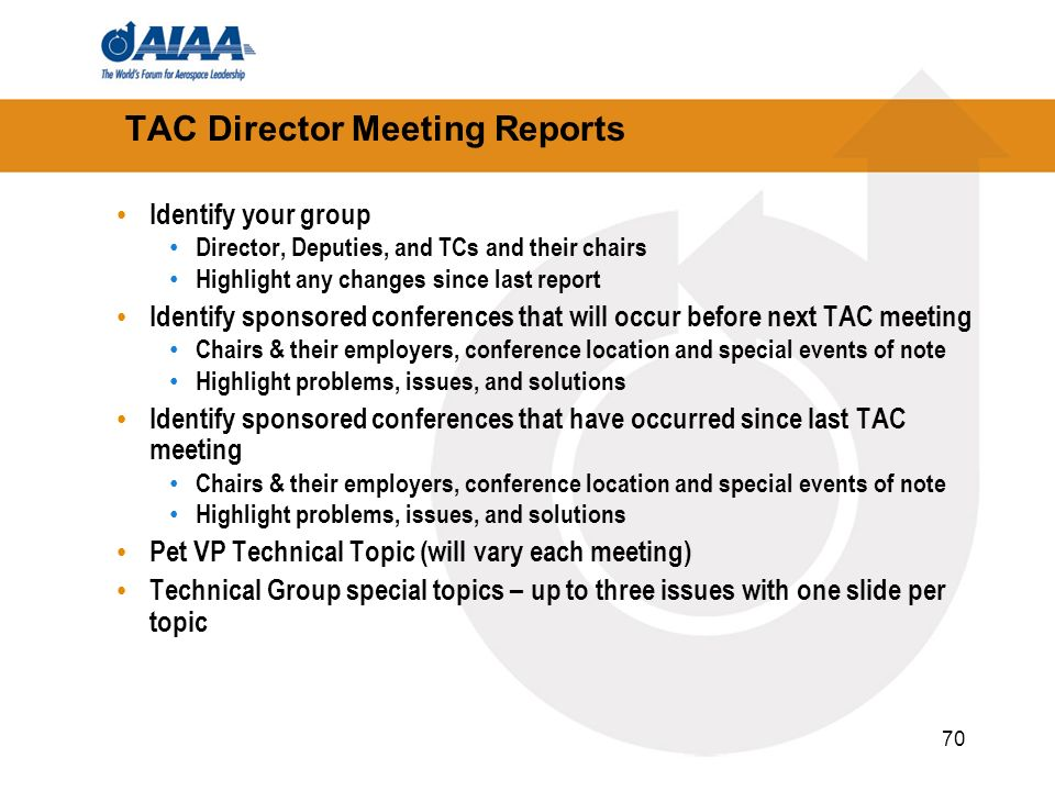 TAC Director Meeting Reports