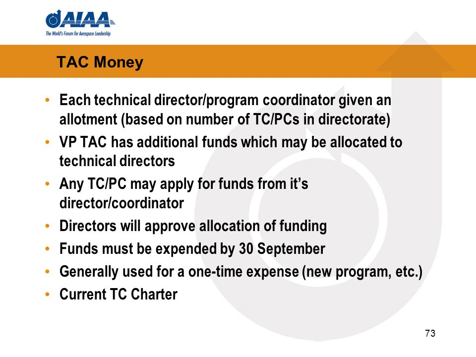 Any TC/PC may apply for funds from it's director/coordinator