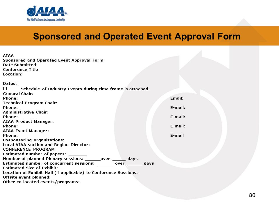 Sponsored and Operated Event Approval Form