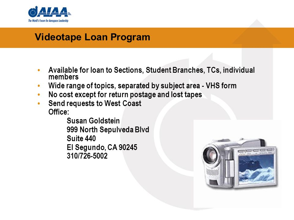 Videotape Loan Program