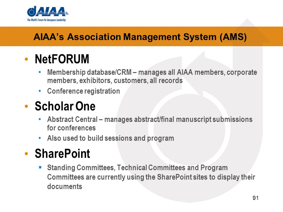 AIAA's Association Management System (AMS)