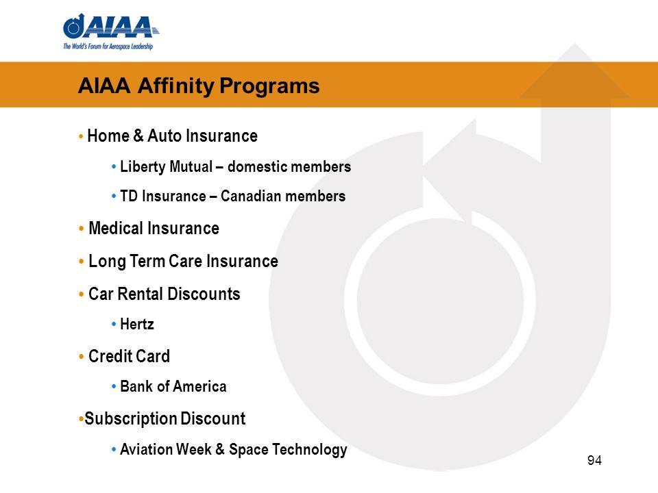AIAA Affinity Programs