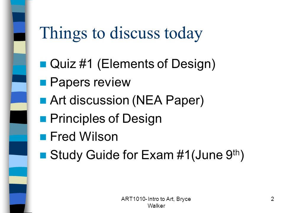 Principles Of Design List : Art class the principles of design ppt video