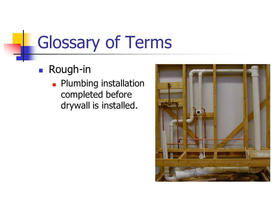 Glossary of Terms Rough-in