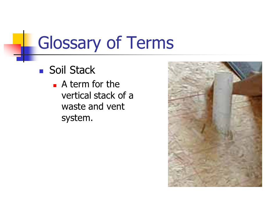 Plumbing ppt video online download for Soil dictionary
