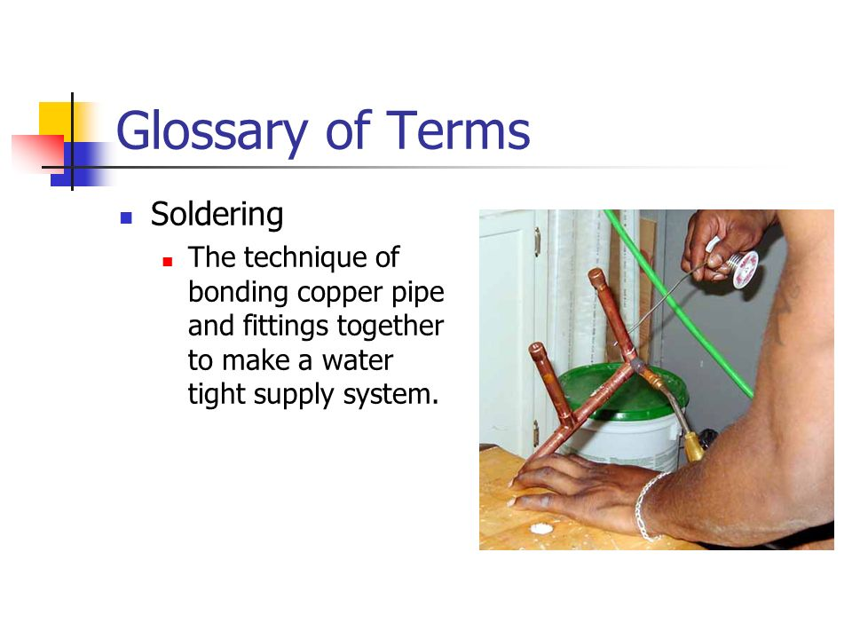 Glossary of Terms Soldering
