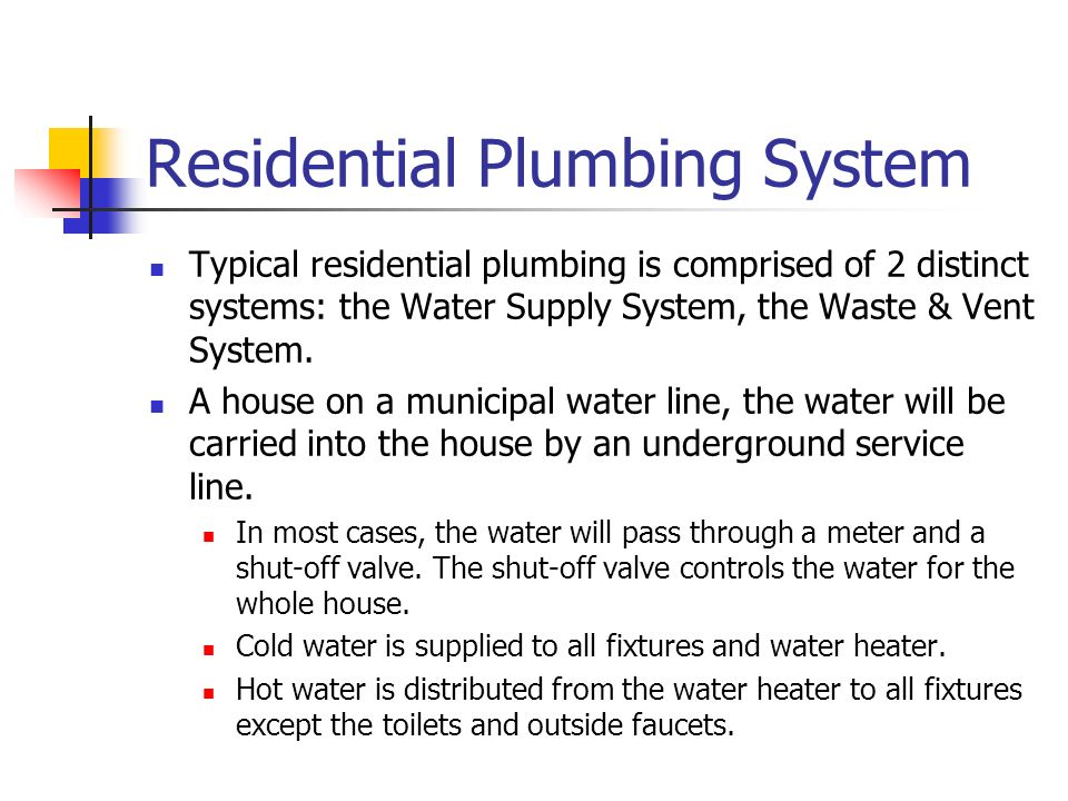 Residential Plumbing System