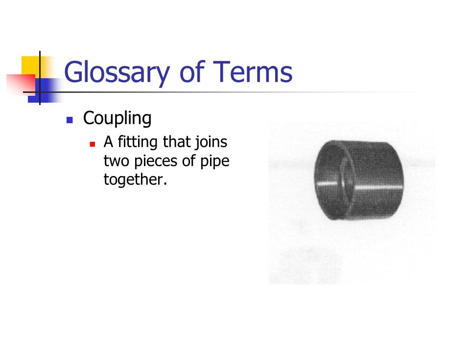 Glossary of Terms Coupling