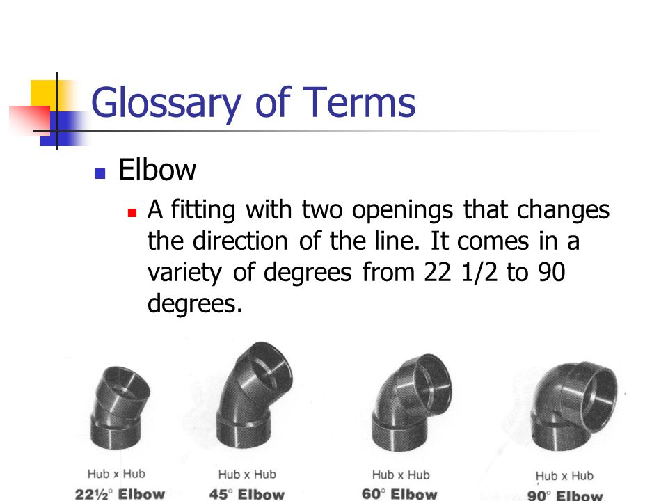 Glossary of Terms Elbow