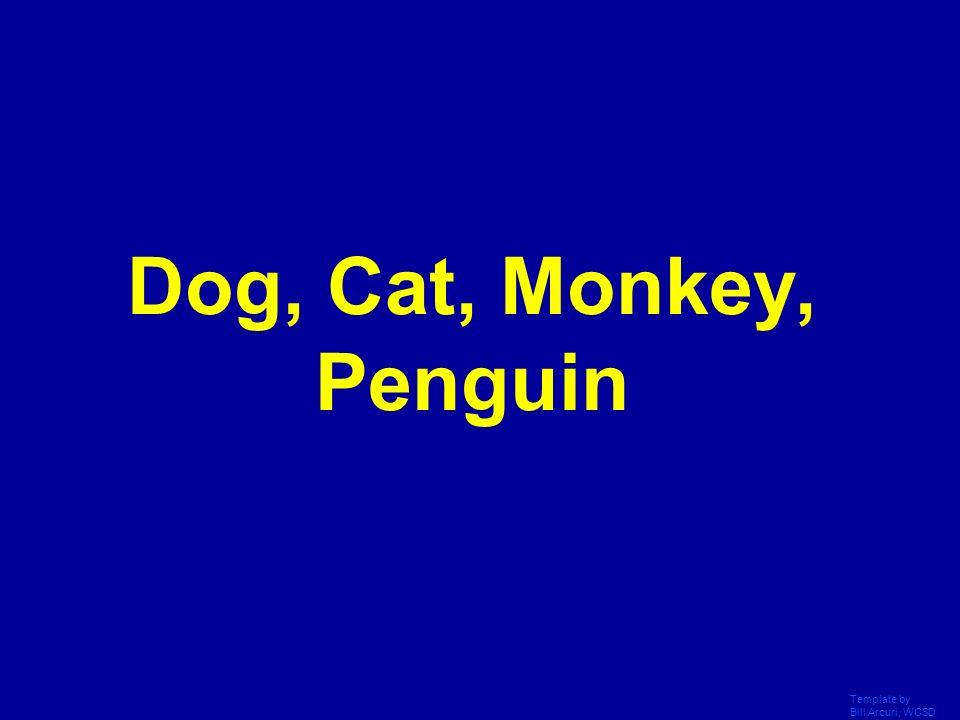 Dog, Cat, Monkey, Penguin Template by Bill Arcuri, WCSD