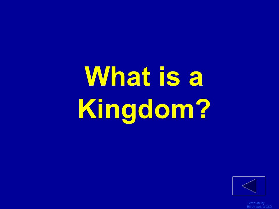 What is a Kingdom Template by Bill Arcuri, WCSD