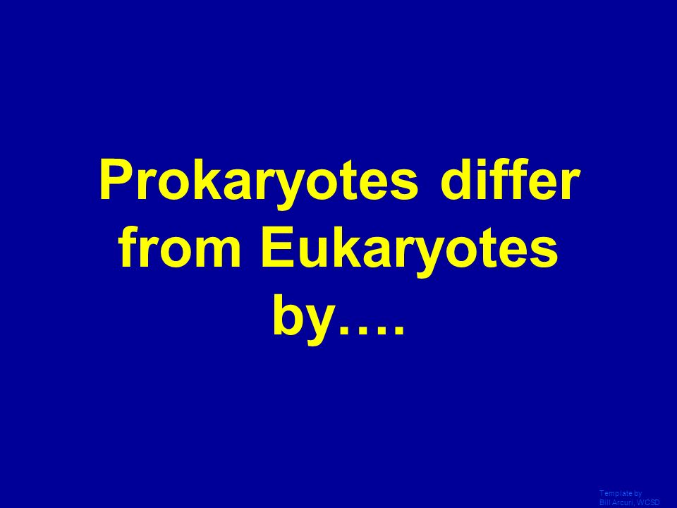 Prokaryotes differ from Eukaryotes by….