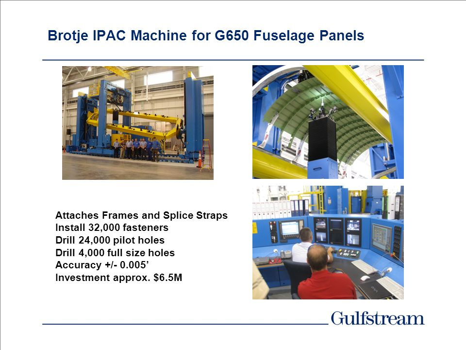 Brotje IPAC Machine for G650 Fuselage Panels
