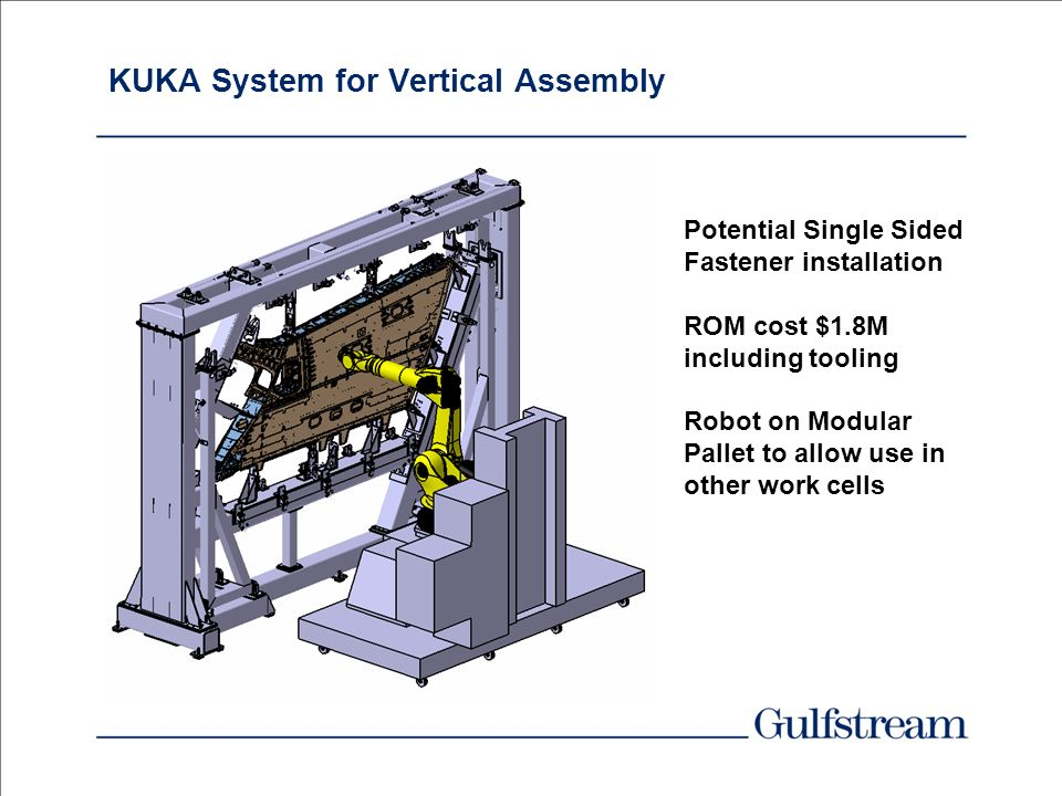 KUKA System for Vertical Assembly
