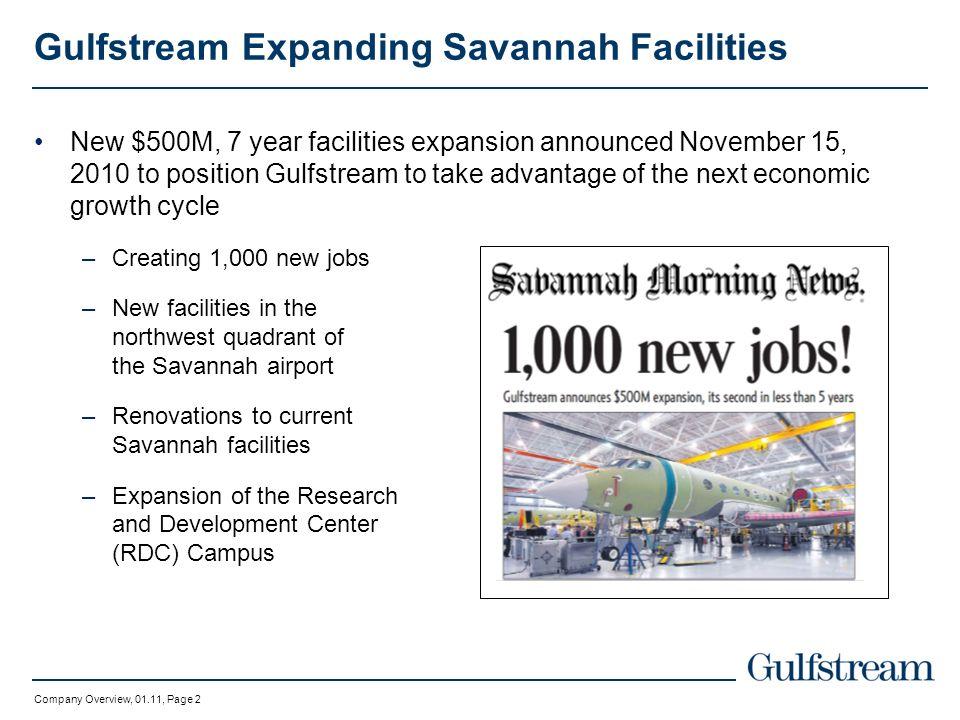 Gulfstream Expanding Savannah Facilities