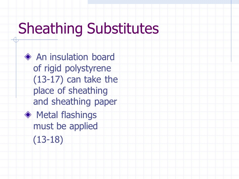 Sheathing Substitutes