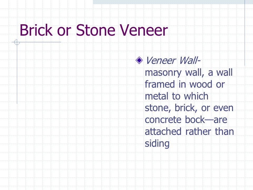 Brick or Stone Veneer