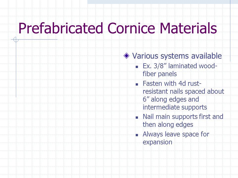 Prefabricated Cornice Materials