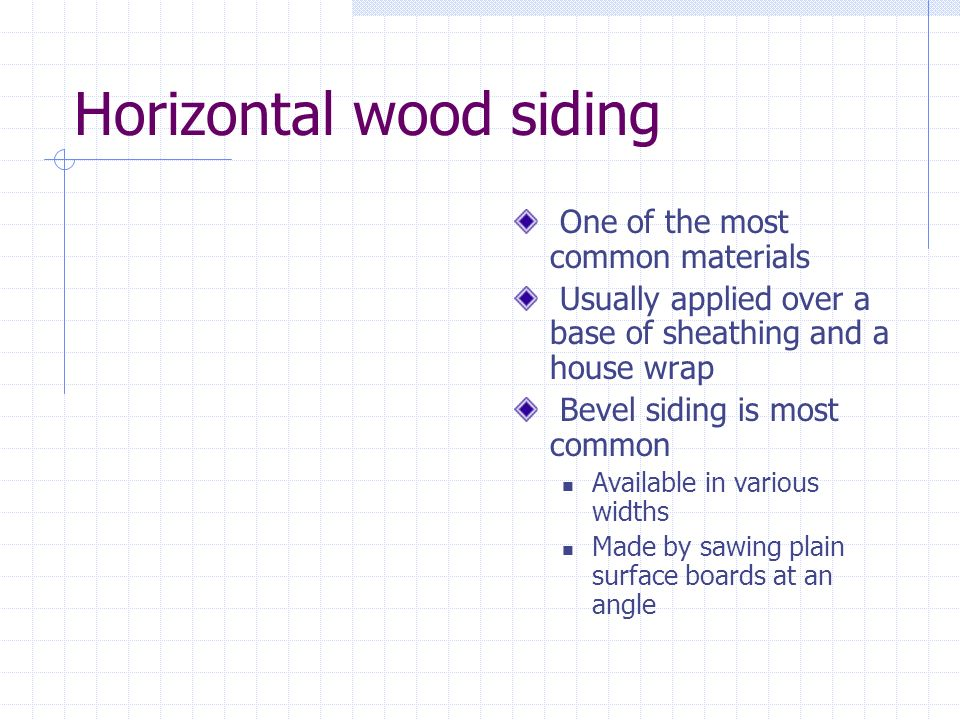 Horizontal wood siding