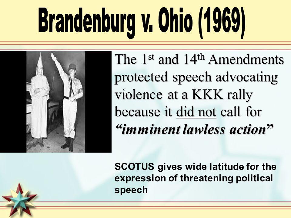 Brandenburg v. Ohio (1969)