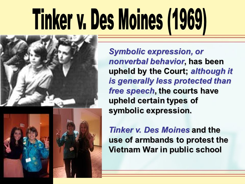 Tinker v. Des Moines (1969)