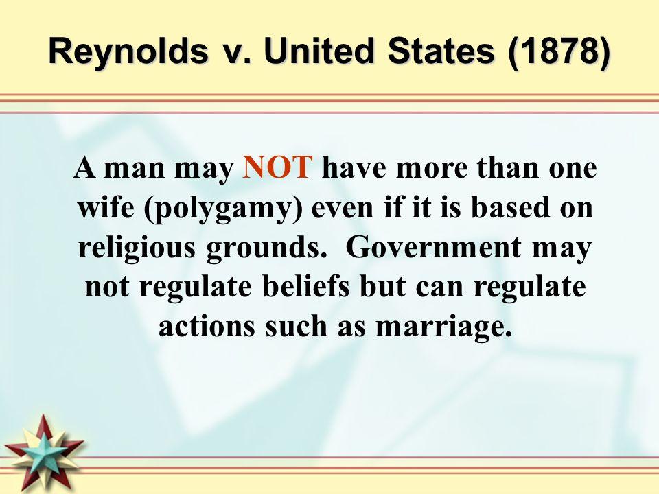 Reynolds v. United States (1878)