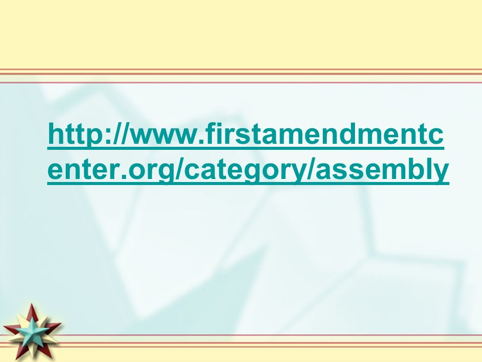 http://www.firstamendmentcenter.org/category/assembly