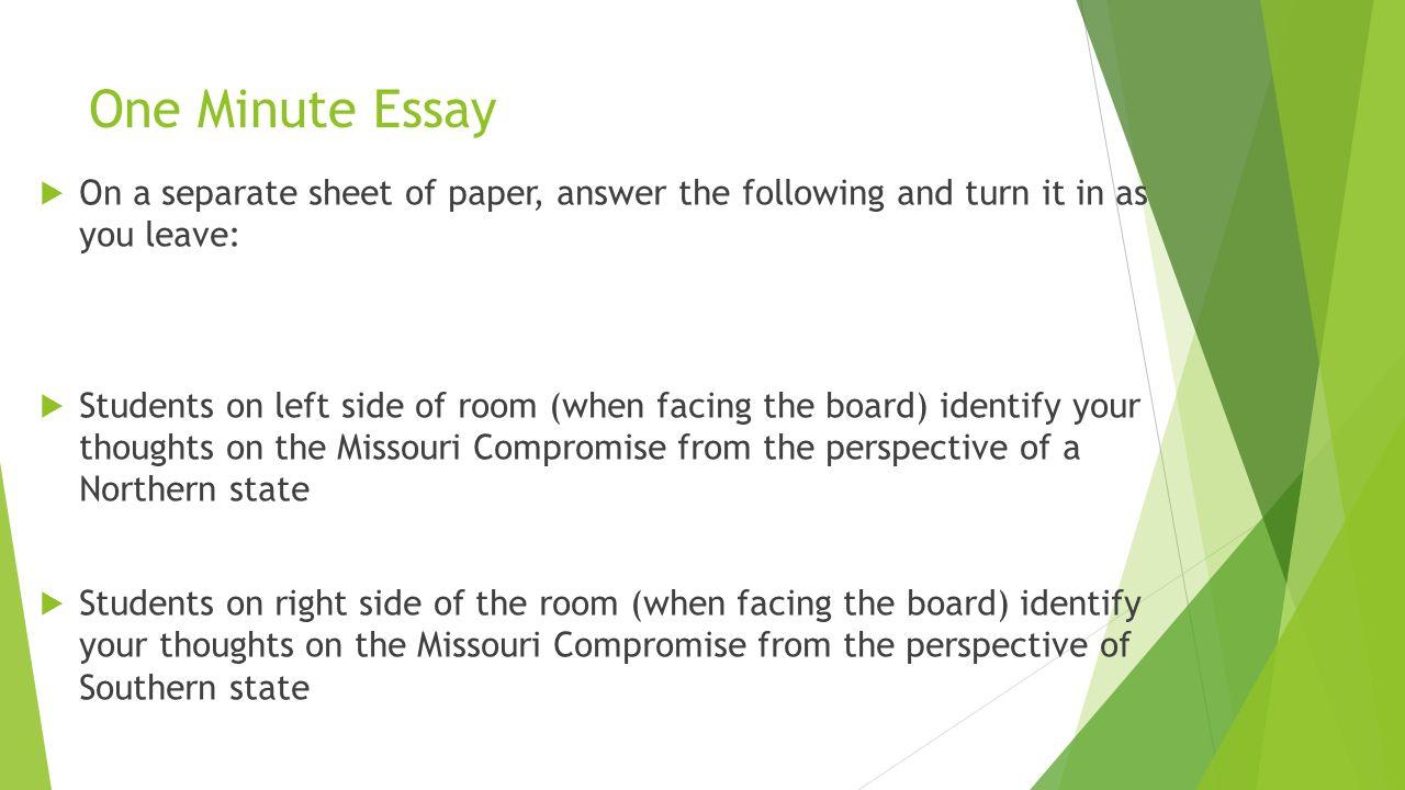 essay about missouri compromise