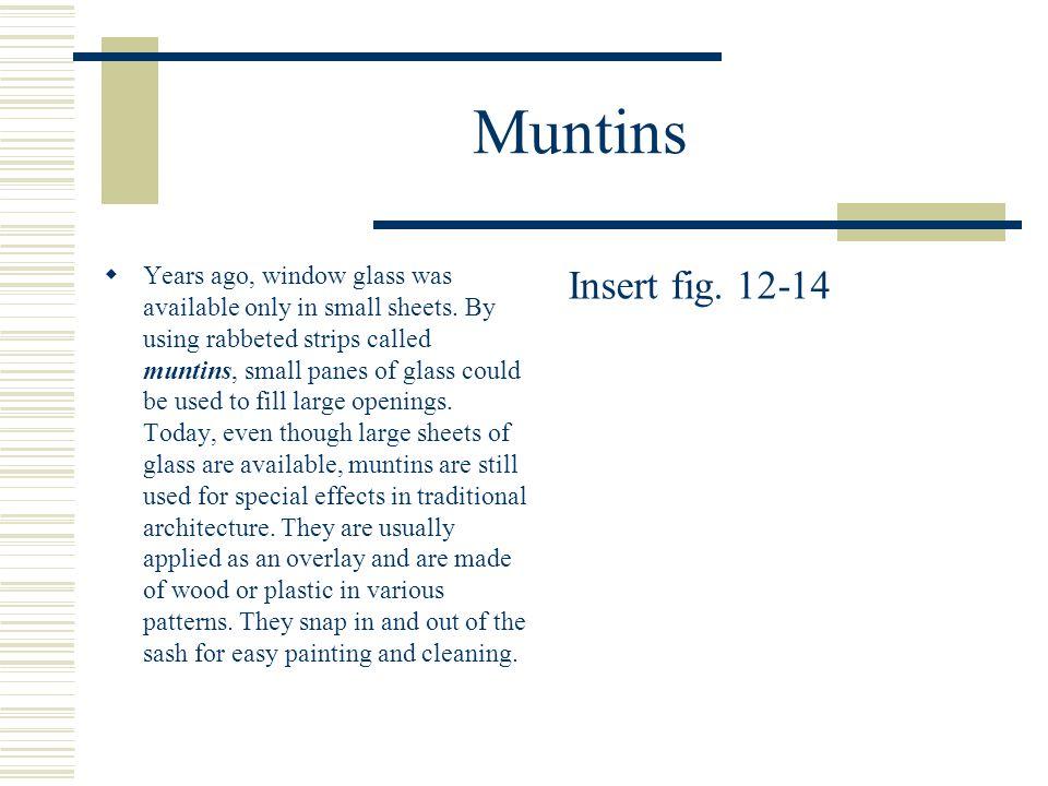Muntins
