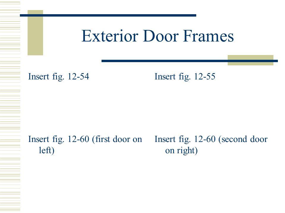 Exterior Door Frames Insert fig. 12-54 Insert fig. 12-55