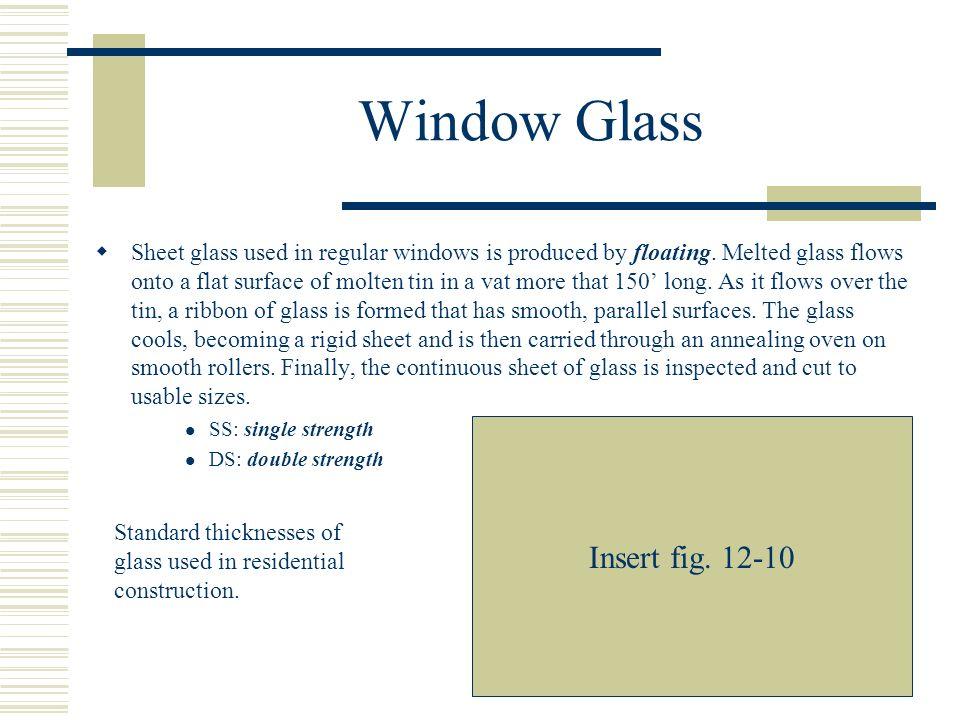 Window Glass Insert fig. 12-10
