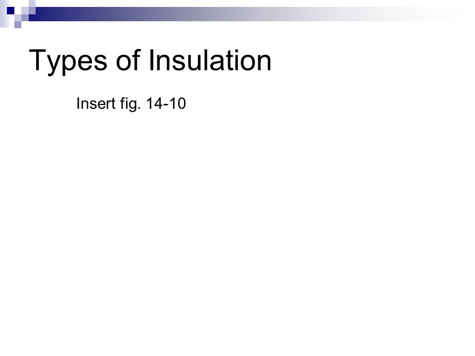 Types of Insulation Insert fig. 14-10