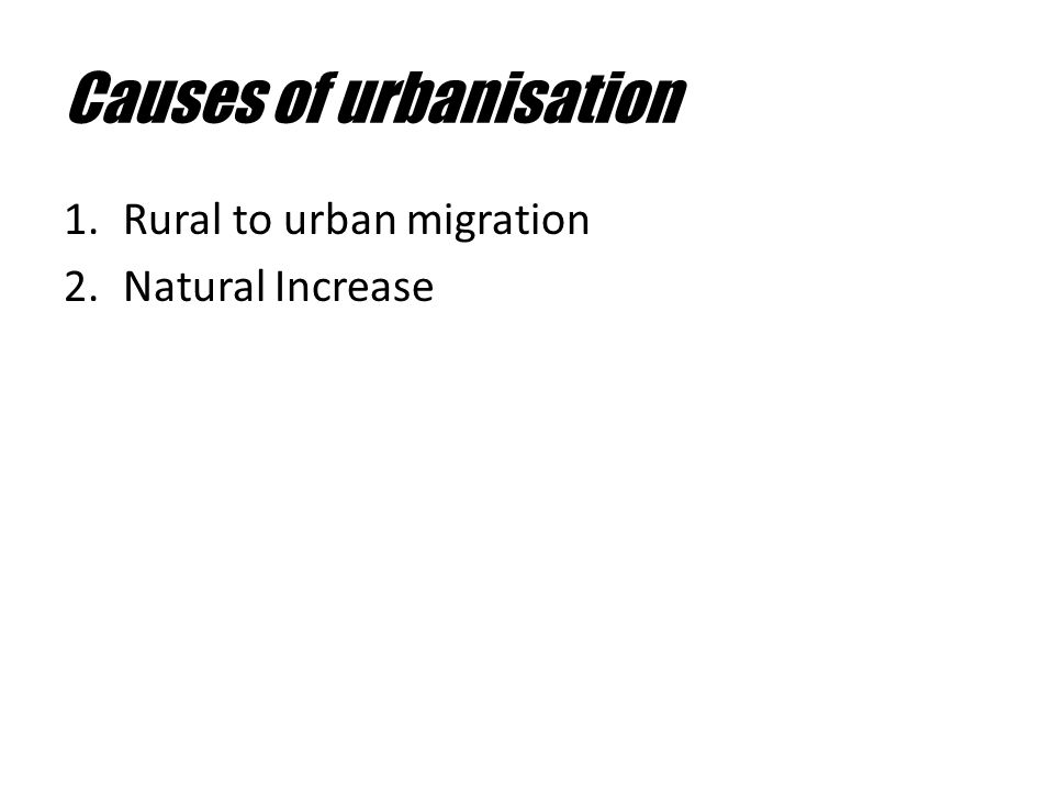 causes of rural urban migration pdf