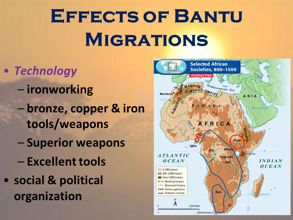 bantu migration The bantu expansion was a millennia-long series of physical migrations across  africa this involved the diffusion of language and of.