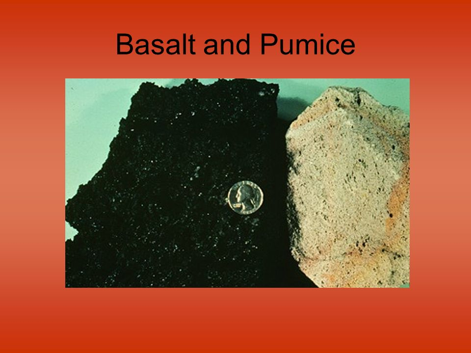 Basalt and Pumice